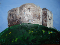 Cliffords Tower York 2008 oil on canvas