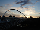 Sunset on Millennium Bridge 9.15pm 9th July 2007