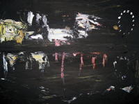 Night reflections 2008 oil on canvas