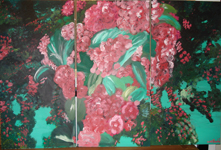 Pink Blossom 2007acrylic on board
