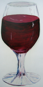 Red Wine in Glass 2005 oil on canvas
