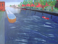 River Ouse 2007 photo and acrylic paint