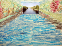 River Ouse 2007 photo and pastel