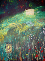 Spring 2007 acrylic on board with photos 4x3ft