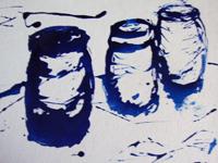 Vessels 2011 enamel on canvas