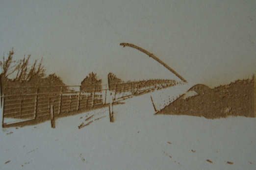 etching onto mounting board