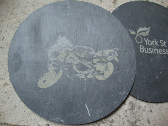 images onto slate, the slate turns a pale gray