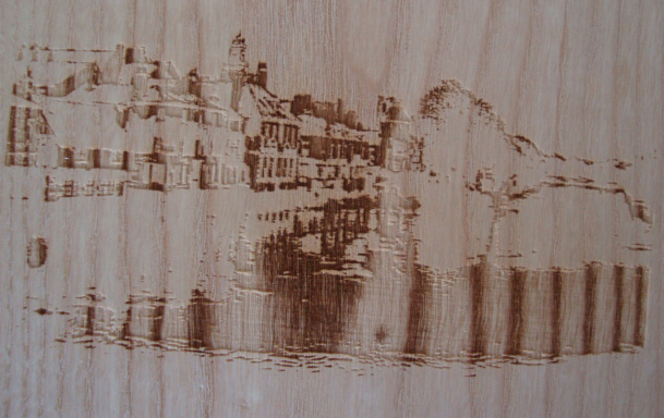 images on wood and using the grain as part of the image
