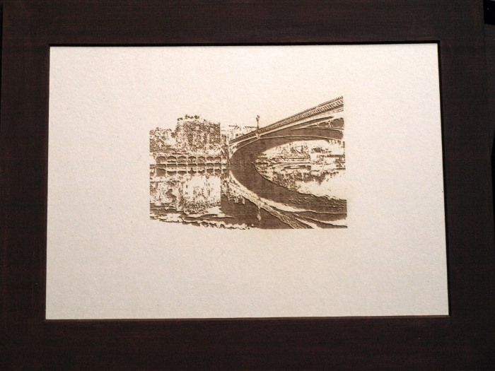 this is Lendel Bridge in York etched and mounted